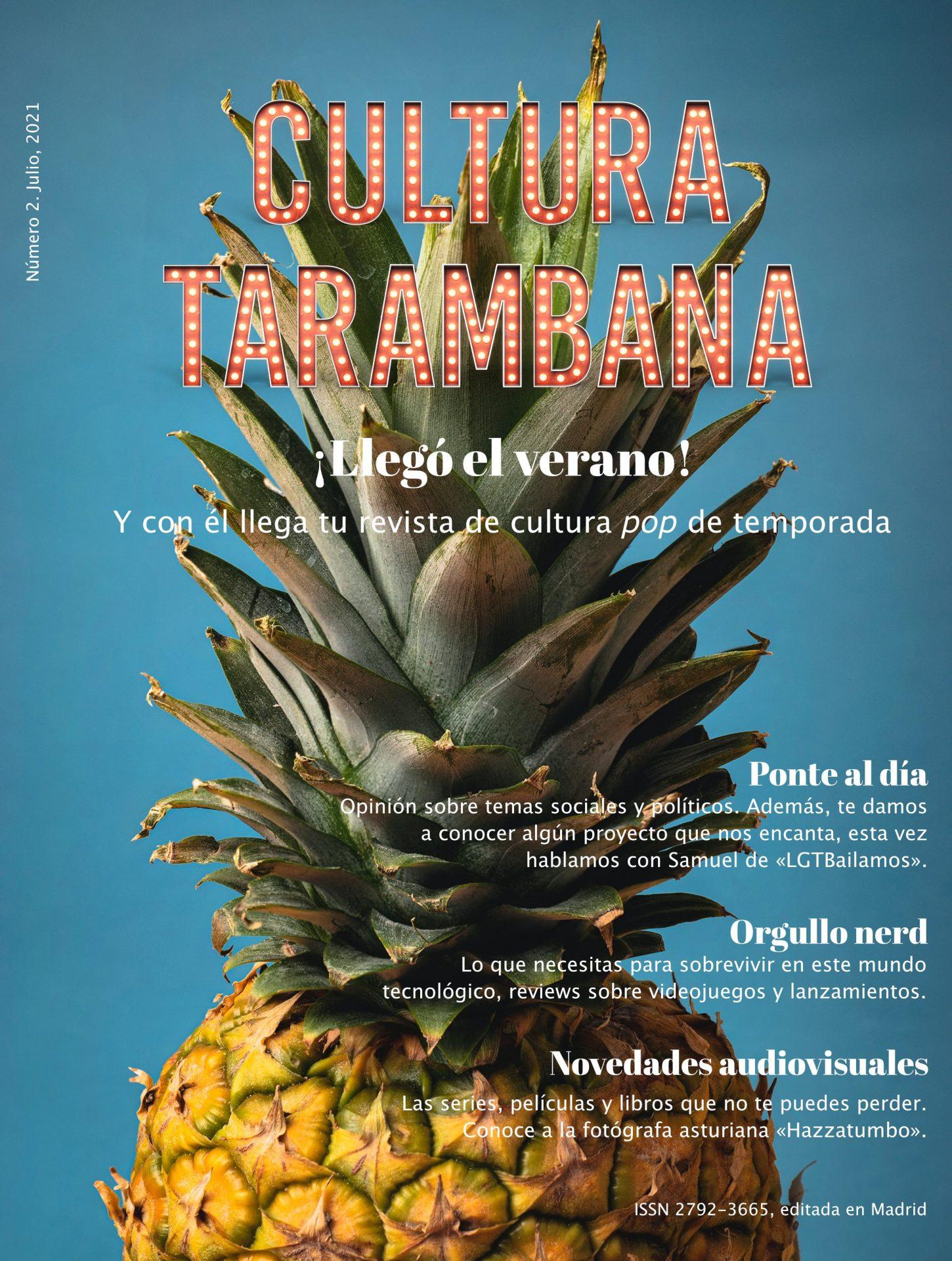 Portada del número de verano 2021 de la REvista Cultura Tarambana. Consiste en la foto de una piña con el rótulo
